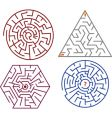 mazes collections vector image