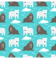 Polar Bear and Walrus Seamless Pattern vector image