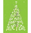 Hand-draw Christmas tree greeting card with vector image