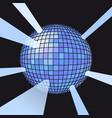 sphere disco ball vector image