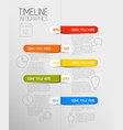 Infographic timeline report template with rounded vector image