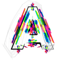 Colorful Font Letter A vector image