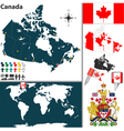 Canada map world vector image