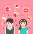 Dating Concept vector image