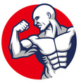 muscle man pose vector image