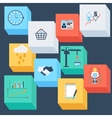 Business icons watche basket badge dollar vector image