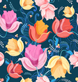pattern of flowers tulips vector image