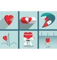 Heart health care motivation vector image