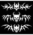 death skulls wings vector image