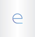 blue small letter e line icon vector image