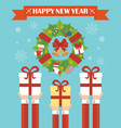 happy new year modern concept flat design vector image