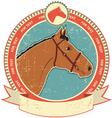 horse head label vector image