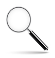Magnifying glass with transparent glass vector image
