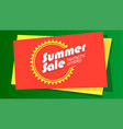 Summer sale fantastic offer poster hot bright vector image