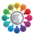 happy new year 2017 calendar design vector image