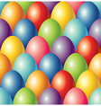 colorful eggs easter seamless background vector image