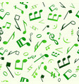 green music seamless pattern vector image