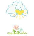 Cloud and sun vector image vector image
