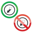 Opposite permission signs vector image