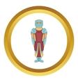 Ancient spartan gladiator legionnaire icon vector image