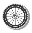 Gear bike wheel icon vector image