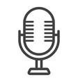 microphone line icon studio and sound vector image