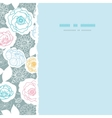 Silver and colors florals square torn seamless vector image