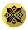 spider on web   flat black vector image