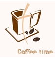 Colored coffee cup icon vector image