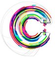 Colorful Font Letter C vector image vector image