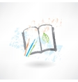 Notebook eco grunge icon vector image vector image