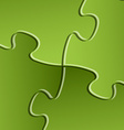 green puzzle solution background vector image vector image