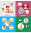 Skin Treatment Icons Set vector image