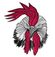 Chicken rooster head design for t-shirts isolated vector image vector image