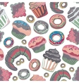 food bakery seamless pattern with baked vector image