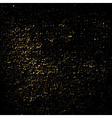 Dust texture black gold grunge vector image