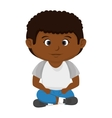 boy kid cartoon vector image