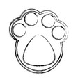 cat footprint isolated vector image