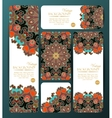 Collection of colorful banners and business cards vector image