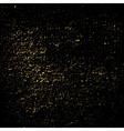 Dust texture black gold grunge vector image