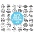 Happy Birthday to You inscriptions set Hand drawn vector image