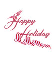happy holiday christmas card text greeting design vector image