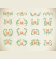 orange ornament on white background vector image