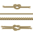 Ropes Decorative Set vector image