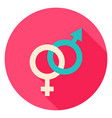sex circle icon vector image