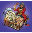 Software piracy the hacker captain vector image