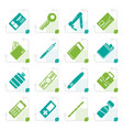 stylized simple object icons vector image
