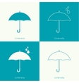 Umbrella sign icon vector image
