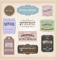 vintage labels ans signs vector image