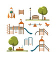 Kids playground City park set vector image